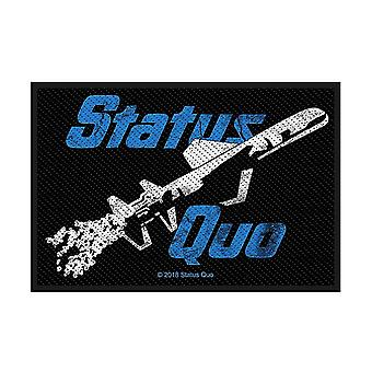 Status Quo Just Supposin' sew-on cloth patch 100mm x 65mm  (rz)