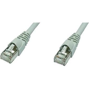 RJ49 Networks Cable CAT 5e F/UTP 50 m Grey Flame-retardant, incl. detent Telegärtner