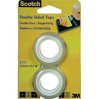Double sided adhesive tape 3M Scotch® 665 Transparent (L x W) 6.3 m x 12 mm Content: 2 Rolls