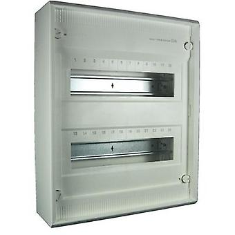 Switchboard cabinet Surface-mount No. of partitions = 24 No. of rows = 2 Hager VA24CN