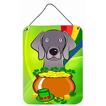 Weimaraner St. Patrick's Day Wall or Door Hanging Prints BB1975DS1216