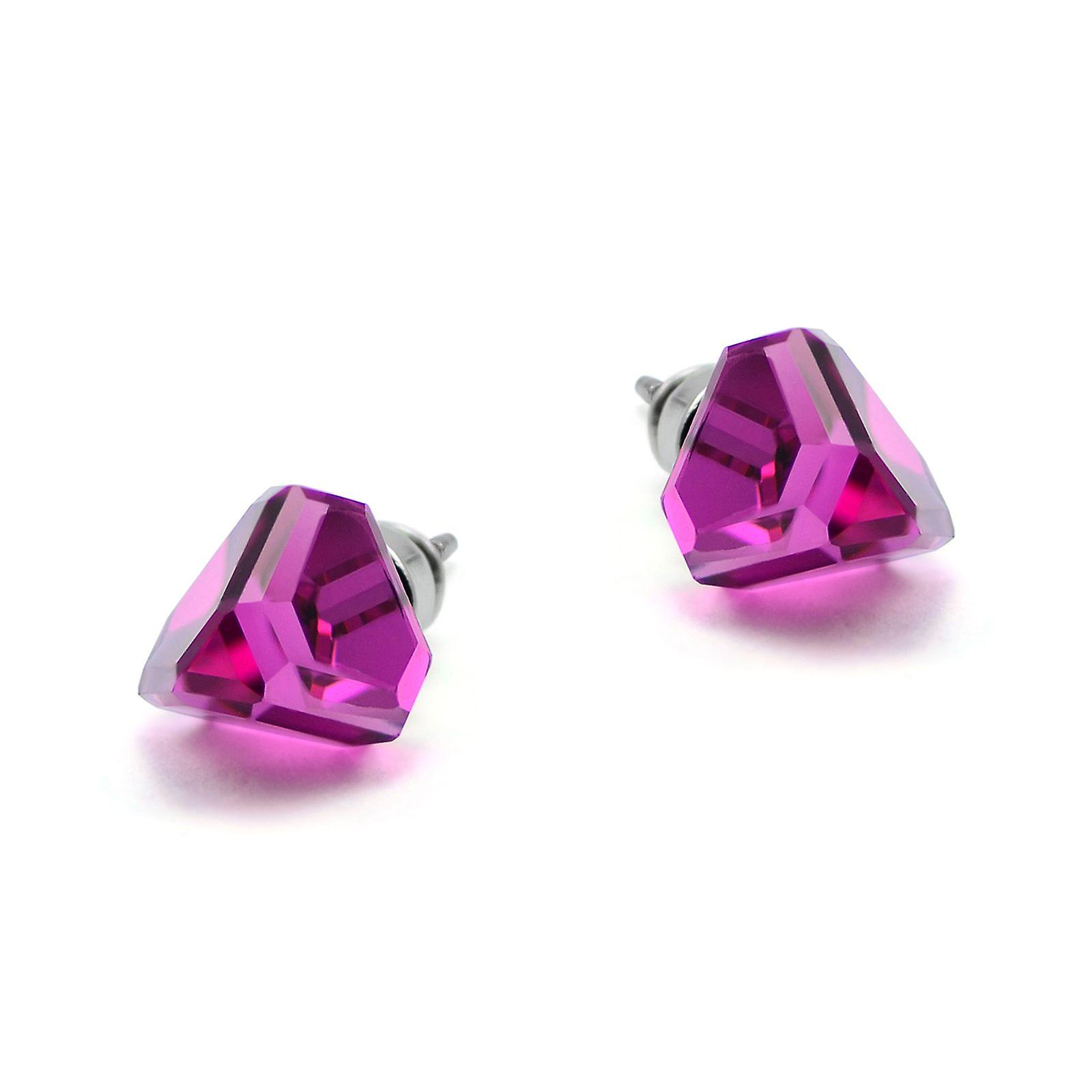 Pink stud earrings EMB 13.1