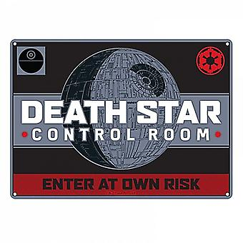 Star Wars Death Star Control Room small steel sign 210mm x 150mm (hb)