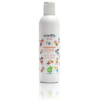 Essentiq Shower Gel and Shampoo 2 in 1 Children Aloe Vera and Papaya 250 ml