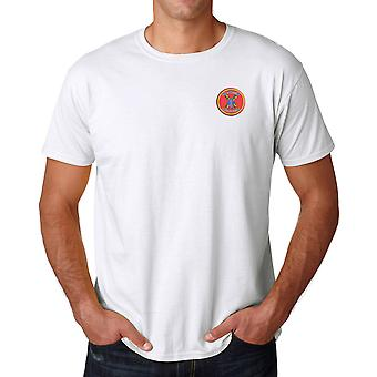 1st Bn 11th USMC Marines Embroidered Logo - Cotton T Shirt