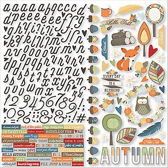 Hello Fall Cardstock Stickers 12