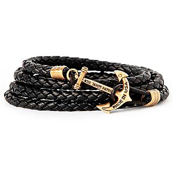 Kiel James Patrick the anchor kraken leather bracelet black