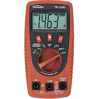 Handheld multimeter digital Testboy TB-2200 CAT II 400 V, CAT III 300 V Display (counts): 2000