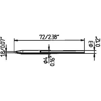 Soldering tip Chisel-shaped Ersa 212 ED LF Tip size 1.8 mm Content 1 pc(s)