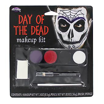 Halloween Day of the Dead Make Up Kit with Paint & Eyeliner