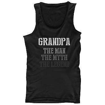 The Man Myth Legend Tank Top for Grandpa Christmas Gift for Grandfather