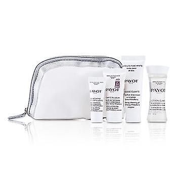 Payot Absolute Pure White Kit: Lotion 30ml +  Mousse Clarte 25ml + Clarte Du Jour 15ml + Concentre Anti-soif Clarte 10ml - 4pcs