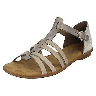 Ladies Rieker Buckle Sandals 64288