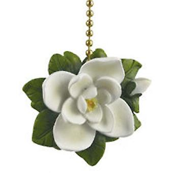 Southern Magnolia Tree Flower Floral Fan Light Pull