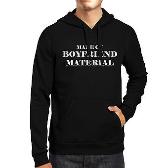 Boyfriend Material Unisex Black Hoodie Cute Gift Ideas For Him