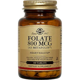 Solgar Folsäure 800 Mcg (als Metafolin) Tabletten 100ct