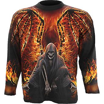 Spiral - FLAMING DEATH - Wrap Around Long Sleeve T-Shirt