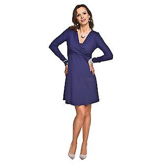 Langærmet barsel kjole - mørkeblå