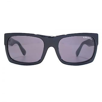 Tom Ford Toby Sunglasses In Shiny Black