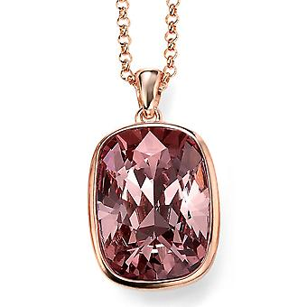 925 Silver Rose Gold Plated And Swarovski Crystal Necklace