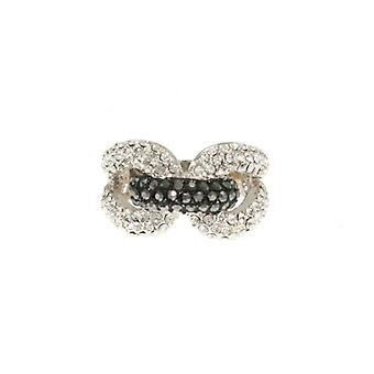W.A.T Sparkling Crystal Chain Link Ring