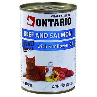 Ontario Cat Beef / Salmon / 400g Sunflower Oil (Cats , Cat Food , Wet Food)