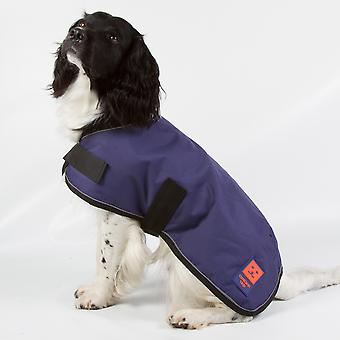 Ginger Ted Shower Waterproof Dog Coat Navy with Warm Fleece Lining (All Sizes)