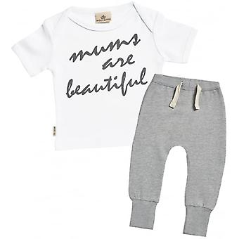 Spoilt Rotten Mum's Are Beautiful T-Shirt & Joggers Outfit Set