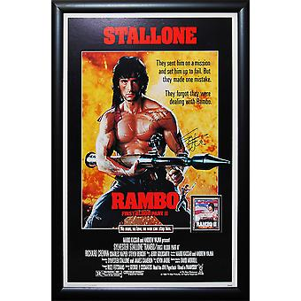 Rambo First Blood Part II - firmato Movie Poster