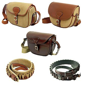 Guardian Heritage Cartridge bag and belt kit - 12G or 20G - canvas and leather