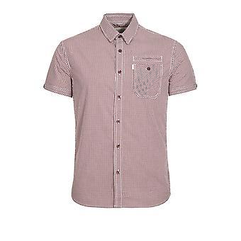 883 Police Ora Short Sleeve Checked Shirt | Maroon