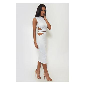 The Fashion Bible Tempest Bodycon Skirt & Boxy Top In White