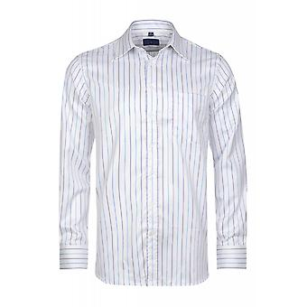 DERBY OF SWEDEN shirt men's long sleeve-shirt White spread collar