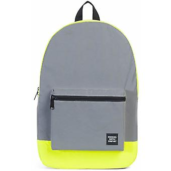Herschel Packable Daypack 24.5L Backpack (Silver Reflective/Neon Yellow Reflective)