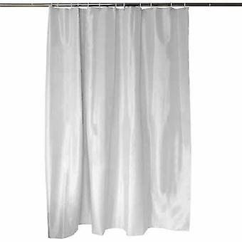 White Diamond Polyester Shower Curtain Weighted Hem & 12 Curtain Rings