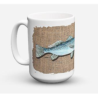 Fish Speckled Trout Dishwasher Safe Microwavable Ceramic Coffee Mug 15 ounce
