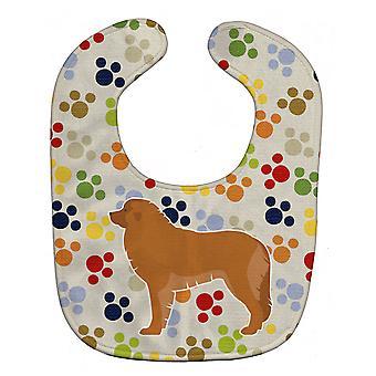 Carolines schatten BB6363BIB Leonberger Pawprints Baby slabbetje