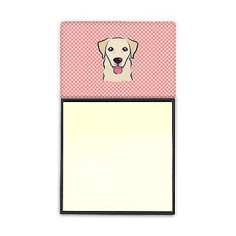 Scacchiera rosa Golden Retriever Refiillable note di Sticky Note titolare o Postit Nota