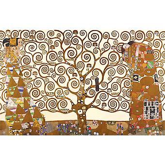 Impresión de cartel del árbol de la vida de Gustav Klimt (36 x 24)