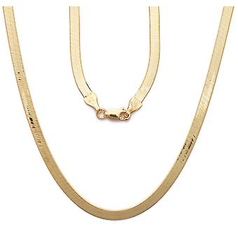"10k Yellow Gold Super Flexible Silky Herringbone Chain Necklace, 0.2"" (5mm)"