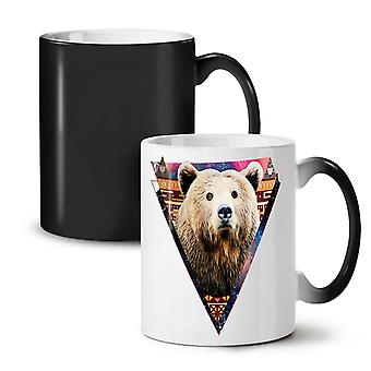 Bear Face Novelty Animal NEW Black Colour Changing Tea Coffee Ceramic Mug 11 oz | Wellcoda