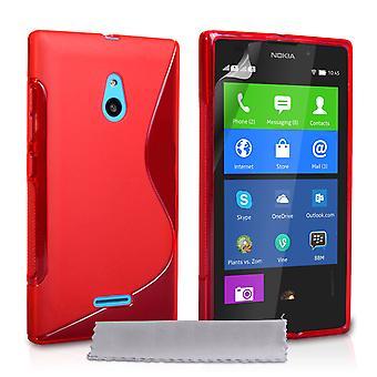 Caseflex Nokia Etui S-Line en Gel Silicone XL - rouge