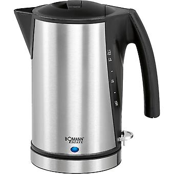 Bomann Kettle 1.7 litres 1356 WK steel stainless steel/black