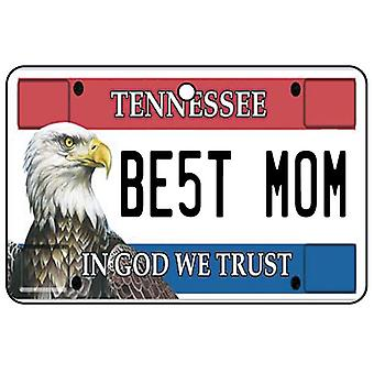 Tennessee - Best Mom License Plate Car Air Freshener