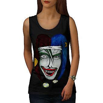 Laugh Scary Clown Women BlackTank Top | Wellcoda