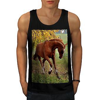 Photo Animal Horse Wild Men BlackTank Top | Wellcoda