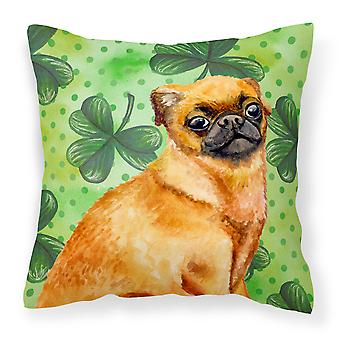 Small Brabant Griffon St Patrick's Fabric Decorative Pillow