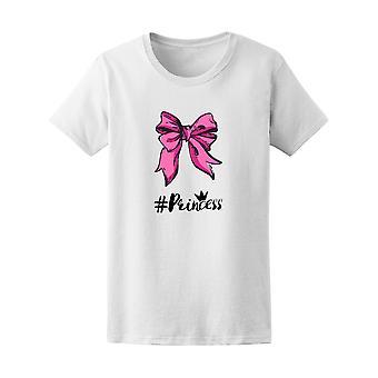 Vaaleanpunainen keula Hashtag prinsessa Graphic Tee - kuva: Shutterstock
