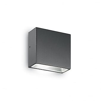 Ideal Lux Tetris Square Graphite Wall Light