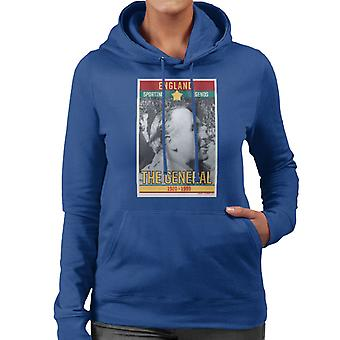 Sporting Legends Poster England Alf Ramsey The General 1966 World Cup Final Women's Hooded Sweatshirt